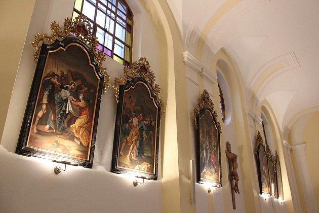 Kostel svaté Barbory v Zábřehu v lednu 2011
