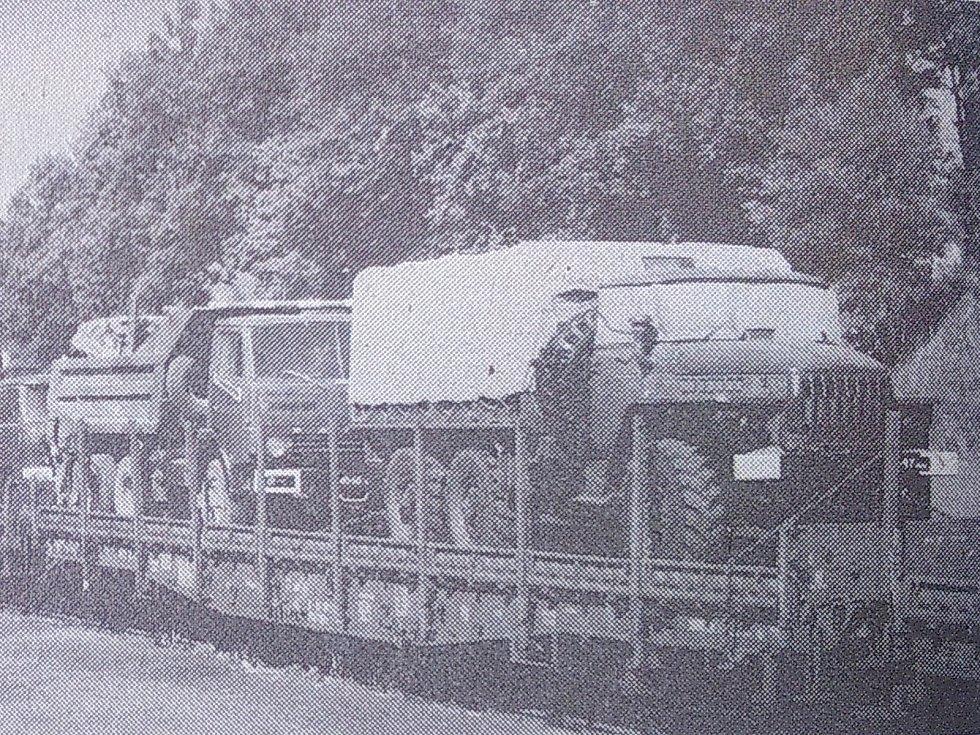 Odjezd sovětské armády z Jeseníku.