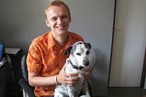Ondřej Polák a jeho pes Cibule.