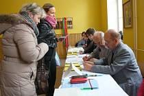 Druhé kolo voleb prezidenta republiky na Obchodní akademii Šumperk.