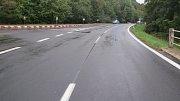 Havárie u křižovatky Loučení nedaleko Chromče