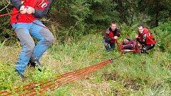Zásah horské služby v Jeseníkách. Ilustrační foto