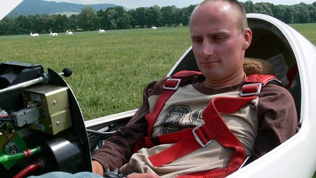 Roman Mraček z Aeroklubu Plzeň-Letkov se v Šumperku stal mistrem republiky.