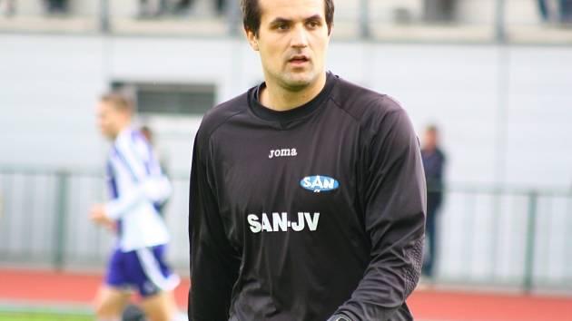 Gólman Petr Kameník.