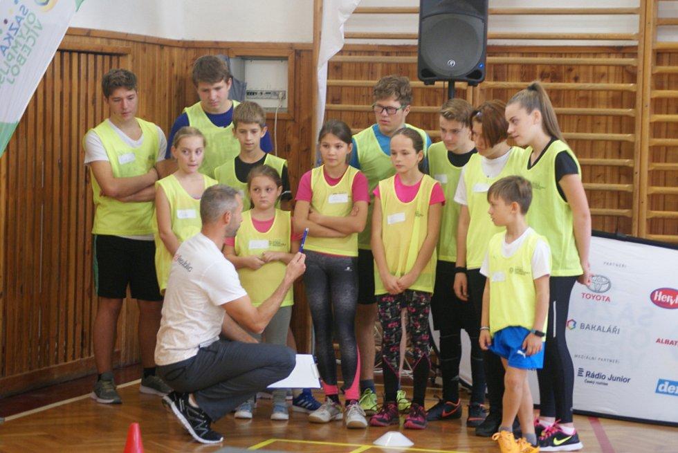 Olympijský trénink v rámci projektu Sazka Olympijského Víceboje. Ilustrační foto
