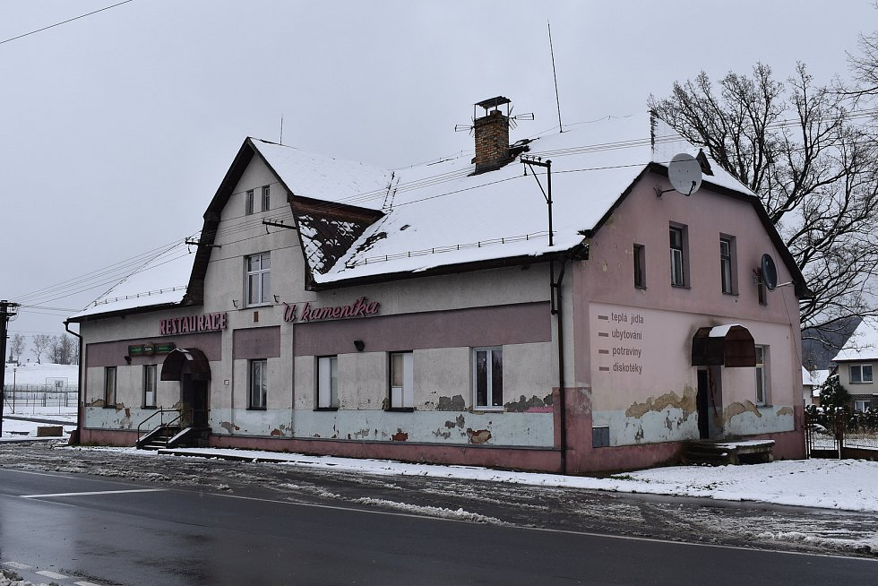 Vápenná - bývalá restaurace U Kameníka