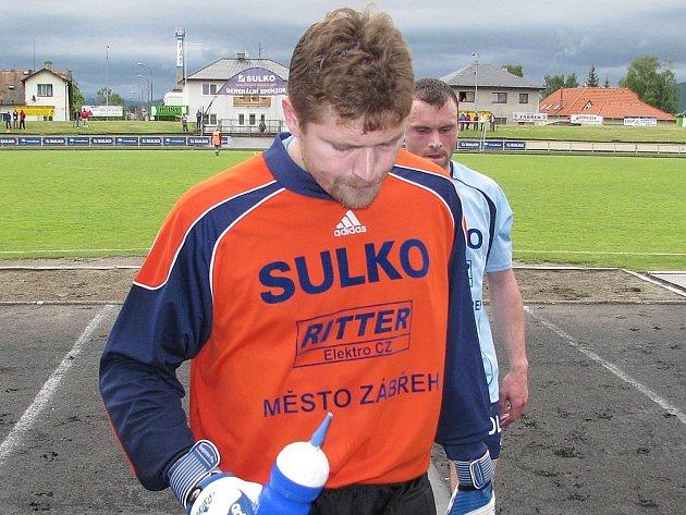 Zábřežský gólman Marek Janků ve Znojmě nechytal, je zraněný.