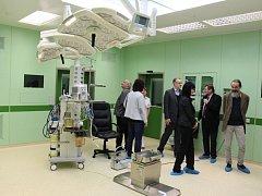 Rekonstruovaný operační sál Šumperské nemocnice.