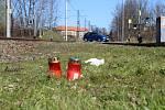 Přejezd na Žerotínově ulici v Šumperku, v jehož blízkosti se v neděli 31. března večer střetl vlak s mužem.