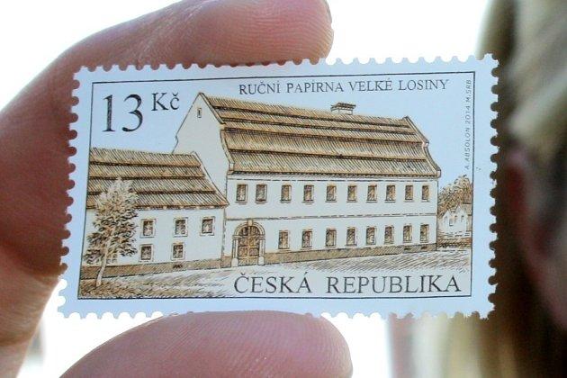 Česká pošta vydala známku smotivem Ruční papírny Velké Losiny.