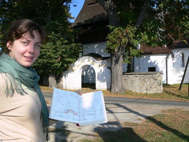 Gotický kostelík ve Vyšehorkách u Mohelnice.