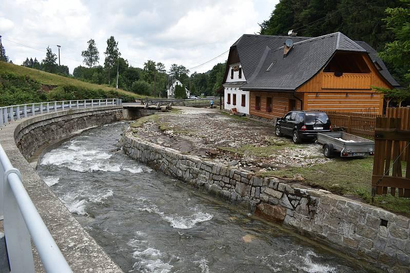 Bělá pod Pradědem - Bělá. 19. července, den po bleskové povodni.