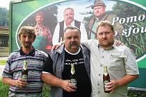 Radek Urban, Bohuslav Hasoň a Jaroslav Hampl (zleva), tři chlapi z plakátu