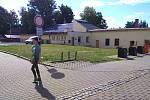 Palouk u divadla v Komenského ulici v Šumperku, kde vznikne originální hřiště pro děti.