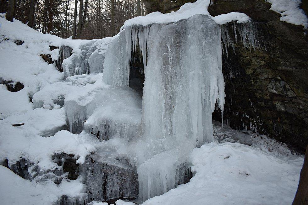 Vodopády na přítoku Ztraceného potoka nad Vápennou.