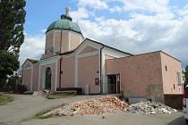 Smuteční síň na zábřežském hřbitově