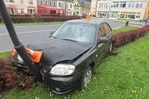 Nehoda v Lipovské ulici v Jeseníku.
