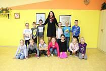 1. třída Základní a mateřské školy Sudkov s třídní učitelkou Martinou Vepřkovou