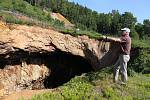 Důlní propadlina Žebračka u Zlatých Hor