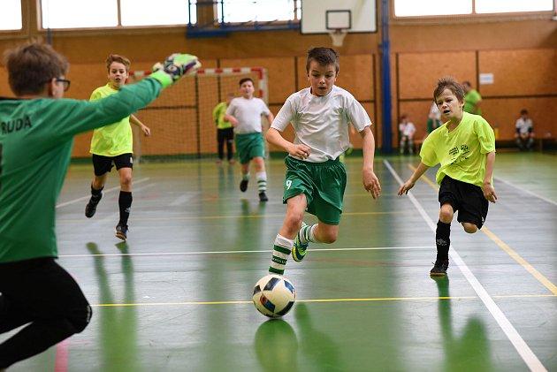 Fotbalový turnaj v tělocvičně obce Nový Malín