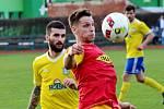 Šumperk (ve žlutém) prohrál s Frýdlantem nad Ostravicí 0:2.