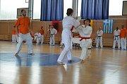 Zápasnice v karate Alena Bajerová v Chorvatsku.