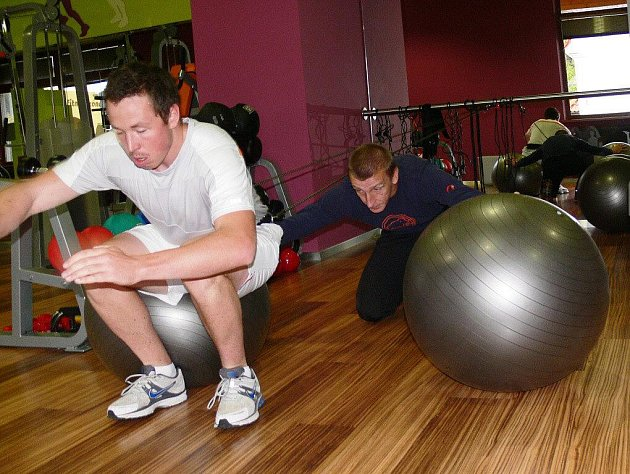 Josef Andrle během tréninku s klientem