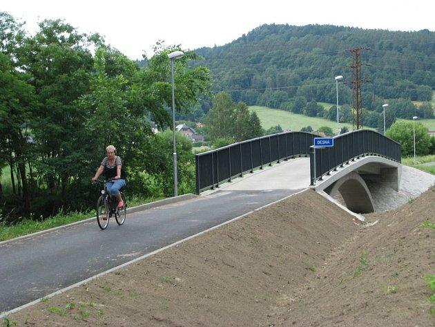 Nová cyklostezka vyrůstá v Šumperku. Povede od zdejší základní umělecké školy do Dolních Studének.