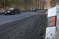 Silnice na Červenohorské sedlo.