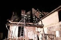 Požár ve Velké Kraši.