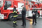 Slavnostní rozloučení s velitelem požární stanice Jeseník Pavlem Antošem.