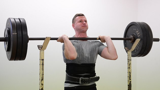 Jiří Grepl na tréninku.