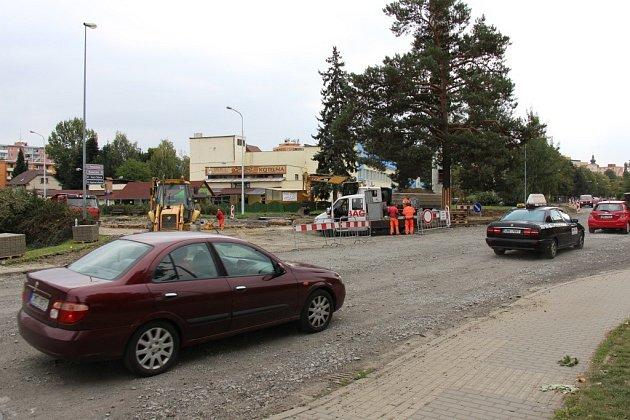 Část Temenické ulice v Šumperku.