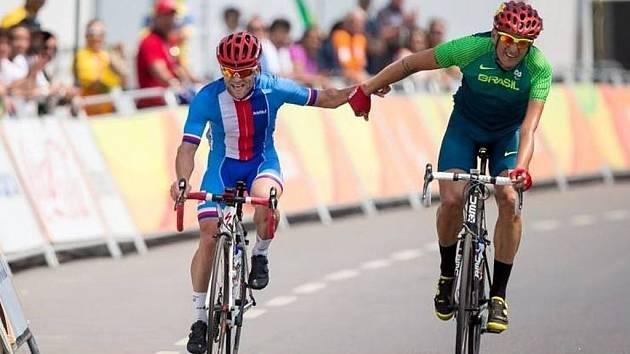 Tomáš Kajnar na paralympiádě v brazilském Riu.