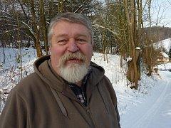 Odcházející kastelán zámku ve Velkých Losinách František Fiala. 1. ledna 2012 jde do důchodu.