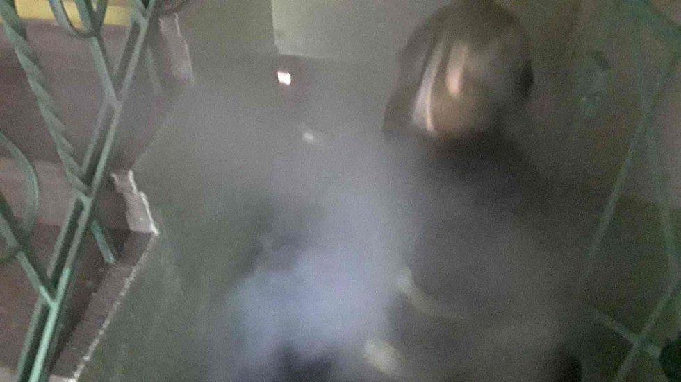 Požár uhlí v mateřské škole v Uhelné