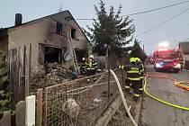 Požár rodinného domu v Bohuslavicích - 17. 12. 2020