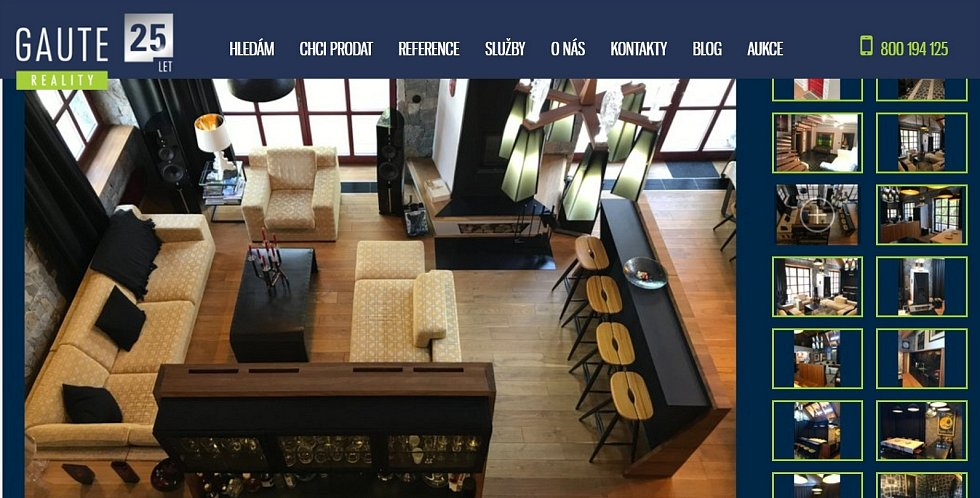 Luxusní chalupa v Bělé pod Pradědem v nabídce realitní kanceláře Gaute