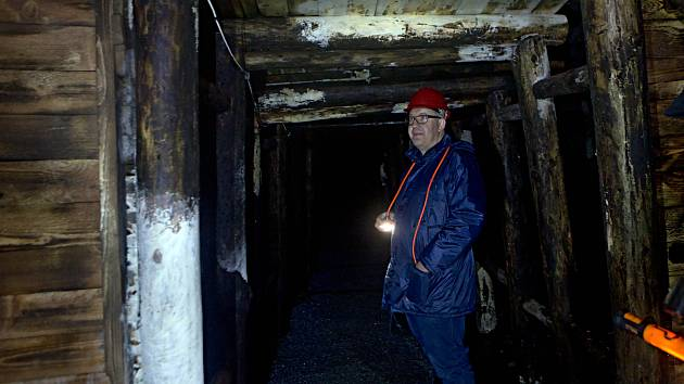 Veřejnosti zpřístupněný bývalý železnorudný hlubinný důl Hraničná v Rychlebských horách
