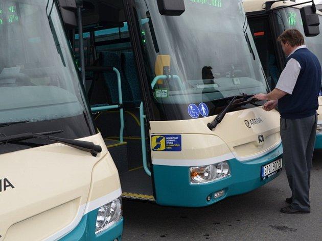 Nové autobusy společnosti Arriva Morava. Ilustrační foto
