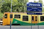 Mezinárodní spěšný vlak ze stanice Jeseník do Krnova je připraven kodjezdu…