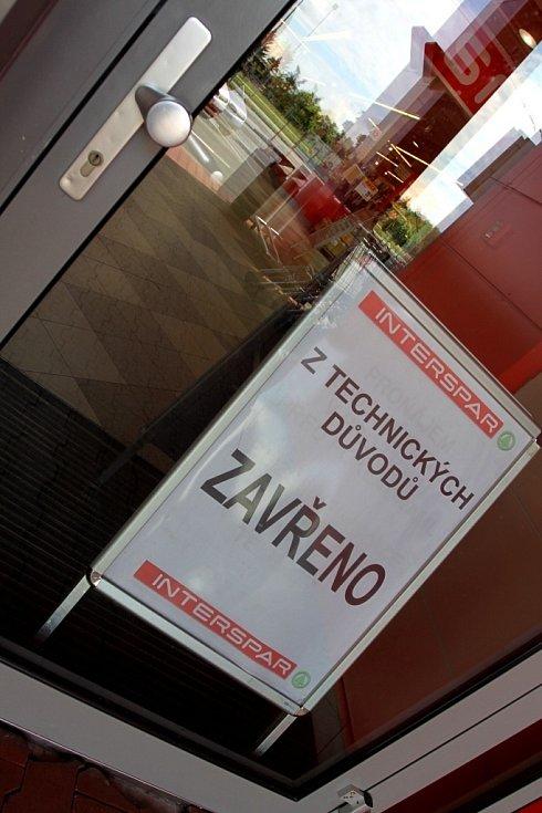 prostějovský Interspar - 22. května 2013 - z technických důvodů zavřeno