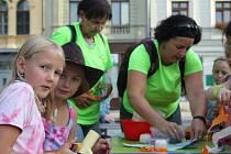 Vesmírné dětské odpoledne na náměstí TGM v Prostějově