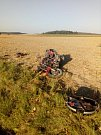 Tragická nehoda motorkáře u Březska na Prostějovsku