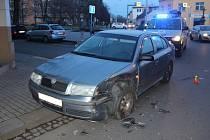 Nabouraná oktávka v Prostějově