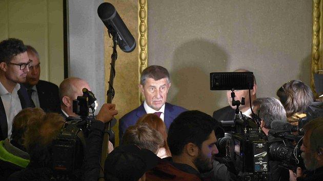 Premiér Andrej Babiš 8. 1. 2020 na návštěvě v Prostějově