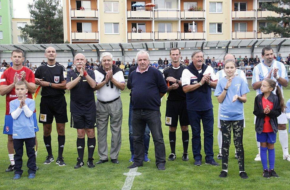 Exhibiční zápas v rámci oslav 115 let fotbalu v Prostějově.