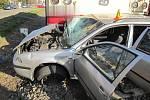 Nehoda vlaku a osobního auta na přejezdu v oblasti křižovatky Českobratrské a Barákovy ulice v Prostějově
