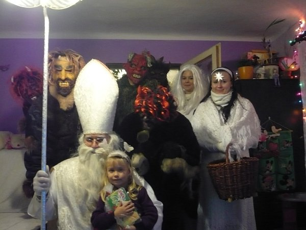 1. Naše vystrašená Kačenka smikulášskou návštěvou