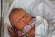 Klára Ošťádalová, Čehovice, narozena 16. října v Prostějově, míra 46 cm, váha 2500 g